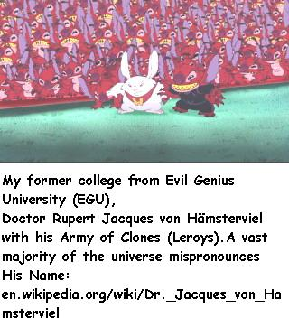 My former college from Evil Genius University (EGU),